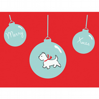 West Highland Terrier Christmas Card