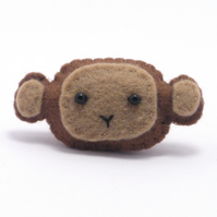 Brooch - Monkey Brooch - Felt Pin