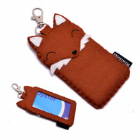 Oyster Card Travel Card Holder Fox Card Wallet - ID Card Bus Pass Train Pass