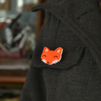 Brooch Fox Brooch Cute Brooch Fox Brooches Fox Pin Handcrafted Jewelley