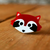 Brooch - Red Panda Brooch - Animal Brooch