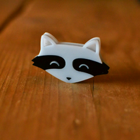 Animal Brooch - Raccoon Brooch