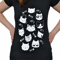Christmas Gift for Cat Lovers - T Shirt - Ladies T-Shirt - Cat T-Shirt