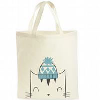 Cat Tote Bag - Gift For Cat Lover - Reusable Shopping Bag
