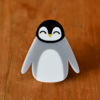 Christmas Brooch Gift  - Stocking Filler - Penguin Brooch