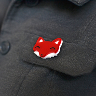 Pin Badge - Brooch - Fox Brooch - Animal Brooch