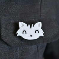 Cat Pin - Cat Brooch - Cat Accessories - Cute Animal Brooch - Secret Santa