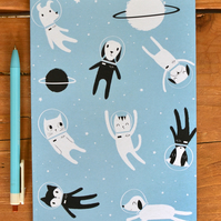Notebook A5 Cat Notepad Animal Stationary Dogs Cats - Stocking Filler