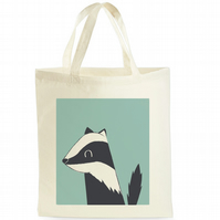 Christmas Gift - Secret Santa - Badger Tote Bag - Gift for Wildlife Lovers