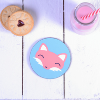 Fox Coaster Fox Gifts Stocking Fillers Cute Animal Drinks Coaster