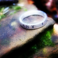 Personalised Silver Ring - One Shilling