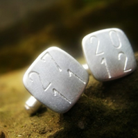 Personalised silver - Hip To Be Square (Cuff Links)