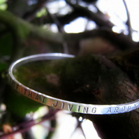 Custom made Silver bangle - Simply Be