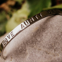 Personalised childs bangle - My Girl