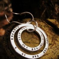 Stamped Silver Jewellery - Eclipse