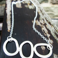 'Stepping Stones' - Silver Necklace