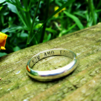 Personalised silver - Slinky Ring
