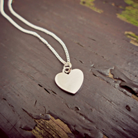 Silver Heart Necklace (All I Need)
