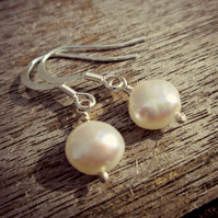 Pearl Earrings - Sterling Silver