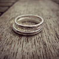 Sterling Silver 'Duo Stack' rings