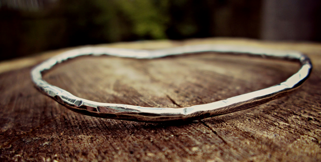 Silver 'Vine' bangle - silver jewellery, silver bracelet, personalised, unique