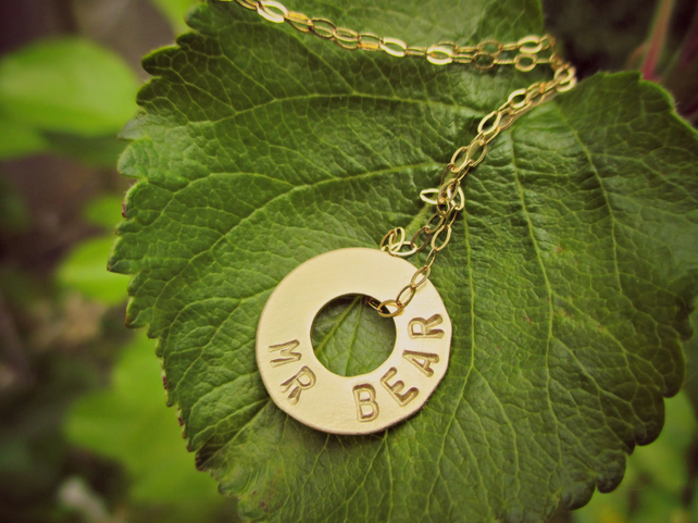 HALO - Sweet Gold-filled & 9 carat Gold word necklace, personalised for you