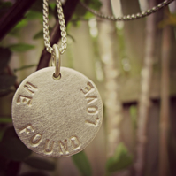 SILVERY MOON - personalised and custom made for YOU!  Word necklace