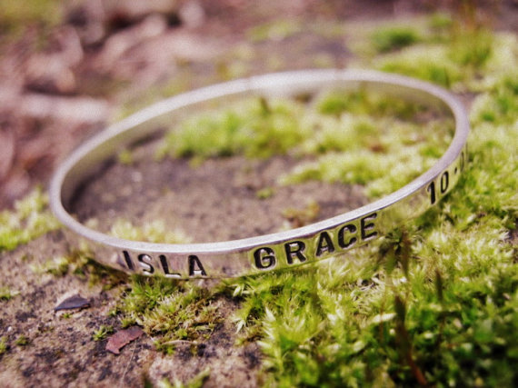 MY GIRL - childs bangle, jewellery for girls, bridesmaid gift, Christening gift