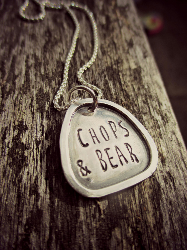 FRAMED WORD NECKLACE - Sterling Silver - childrens names - cute