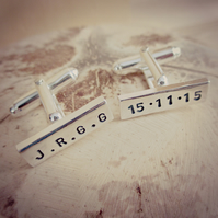 Special Date Cufflinks - Sterling Silver, personalised, unique, one-of-a-kind