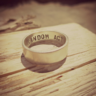 IN THE BAND - Sterling silver ring band, personalised on the inside, custom made