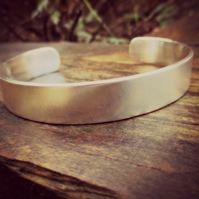 MAN CUFF! - gifts for men, Sterling Silver cuff, personalised inside, charity
