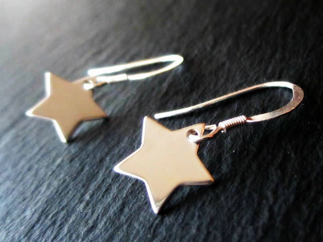 Swing on a Star - Sterling Silver earrings,star jewellery,to the stars and back!