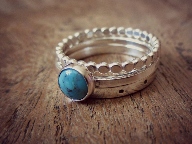 Turquoise Ring Stack