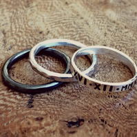 LITTLE STACK - 3 ring stack, stamped with your words, personalised for you