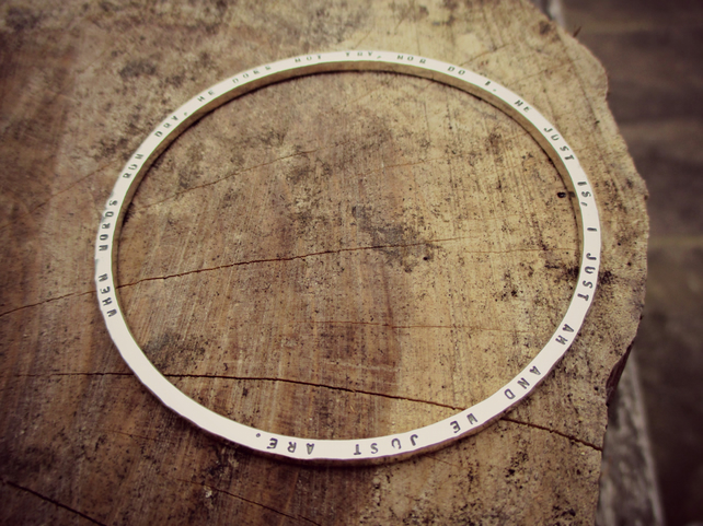 SKINNY BANGLE - Personalised Jewellery - Custom Skinny Silver Bangle