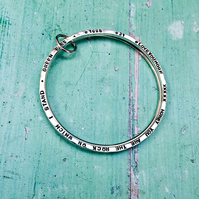 TWO BECOME ONE - double bangle stack, personalised with your words, UK made