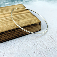 Super Skinny Hammered Bangle, Sterling Silver, the tiny facets catch the light!