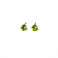 Peridot & Gold - earrings