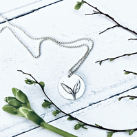 "Botanical - ""Seedling"" necklace (great things come) - handmade Silver jewellery"