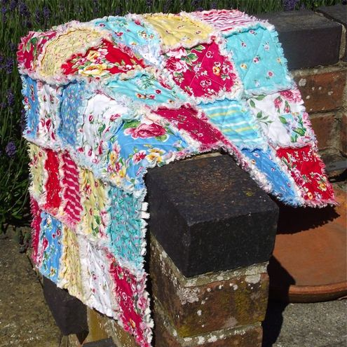 Rag Quilt Baby Snuggle Mat