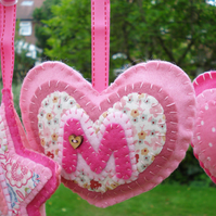 Hanging Decoration Personlised Heart