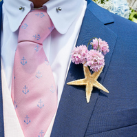 Folksywedding Handmade Wedding Buttonhole starfish