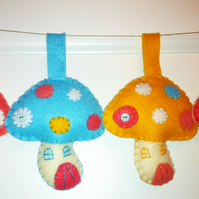Felt Toadstool decoration