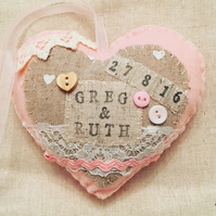 wedding heart felt gift