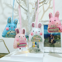 Easter rabbit personalised hanging decoration