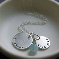 Personalised Silver and Amazonite Necklace