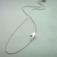 Silver Lightning Necklace