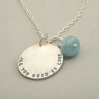 SIngle Disc Personalised Necklace