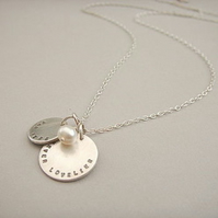 Personalised Silver and Freshwater Pearl Necklace